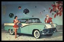 1956 Ford, Christmas Record Postcard