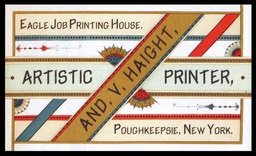 And(reas) V(alette) Haight / Eagle Job Printing House