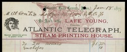 Lafe Young, Atlantic Telegraph Steam Printing House