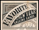 Thomas W. Price Company / New Year Calling Cards