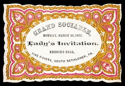 Grand Sociable Lady's Invitation