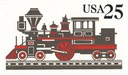 Locomotive Postal Card