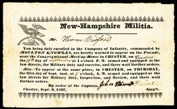 New-Hampshire Militia 1837
