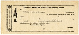 New-Hampshire Militia Company Order