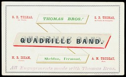 Thomas Brothers / Quadrille Band