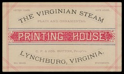 The Virginian Steam Printing House / C. F. & Jos. Button