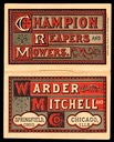 Warder & Mitchell / Champion Reapers and Mowers