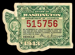 State of Washington Vehicle License