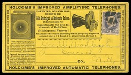 J. R. Holcomb & Company / Holcomb's Improved Amplifying Telephones