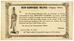 New-Hampshire Militia 1845