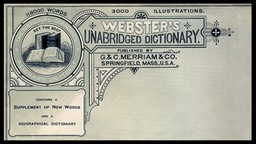 G. & C. Merriam & Company / Webster's Unabridged Dictionary